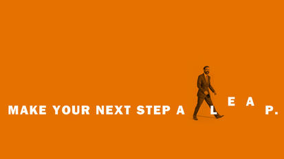 Make your next step a leap.